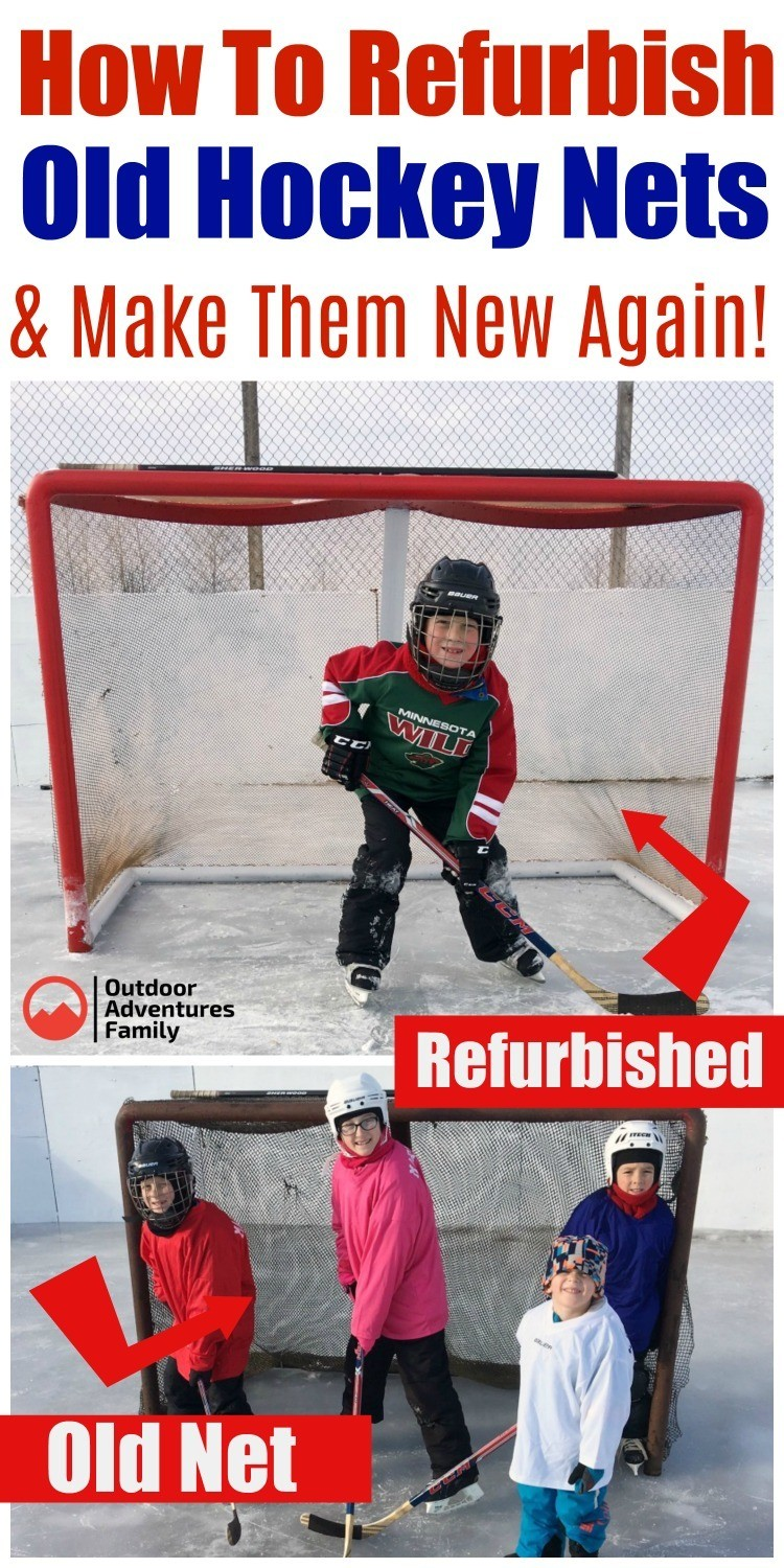 Refurbished hockey net