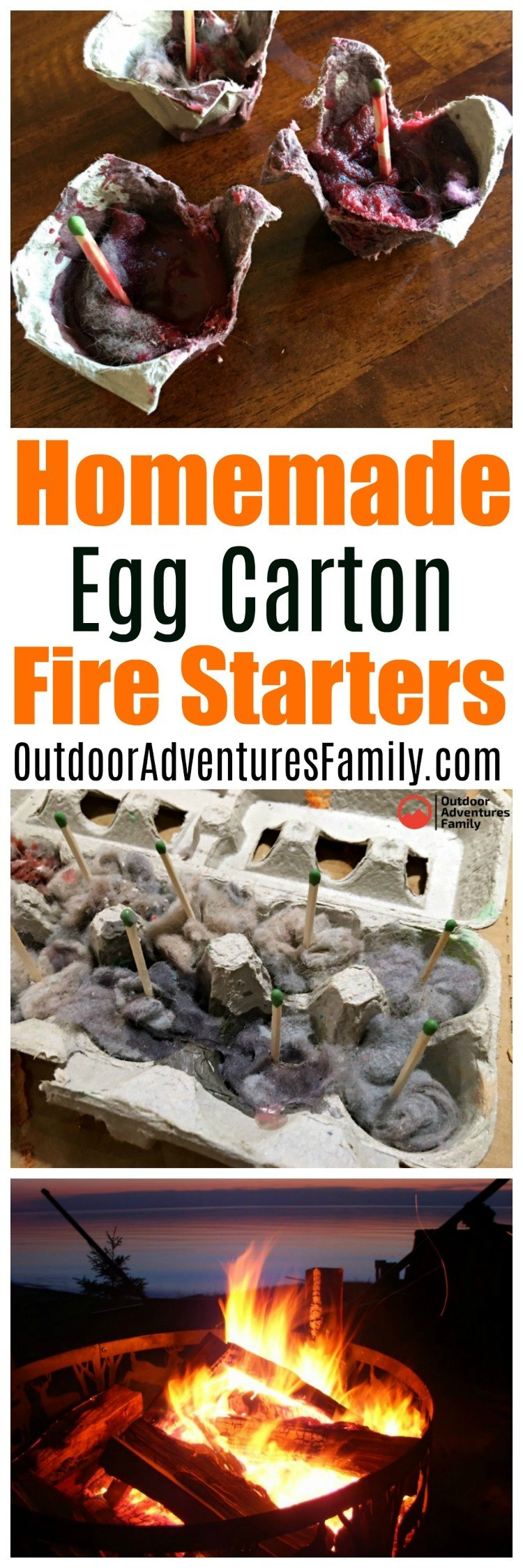 homemade egg carton fire starters