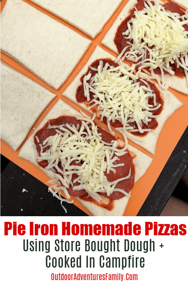 pie iron campfire pizzas