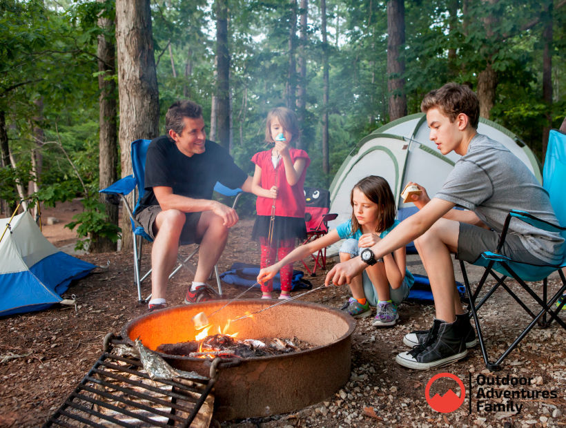 free camping for families